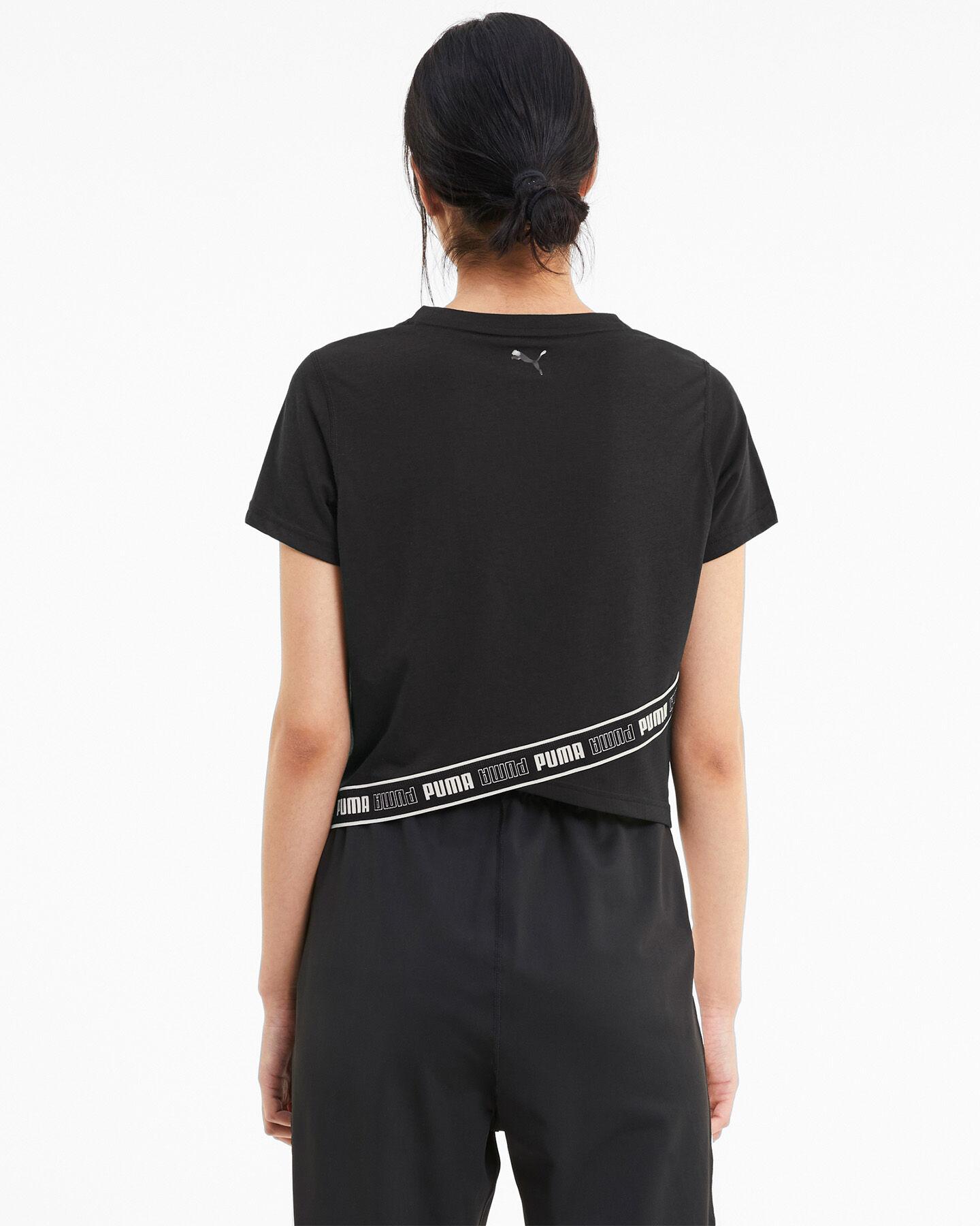 T-Shirt training PUMA DRIFIT CROP LOGO W S5234811 scatto 3