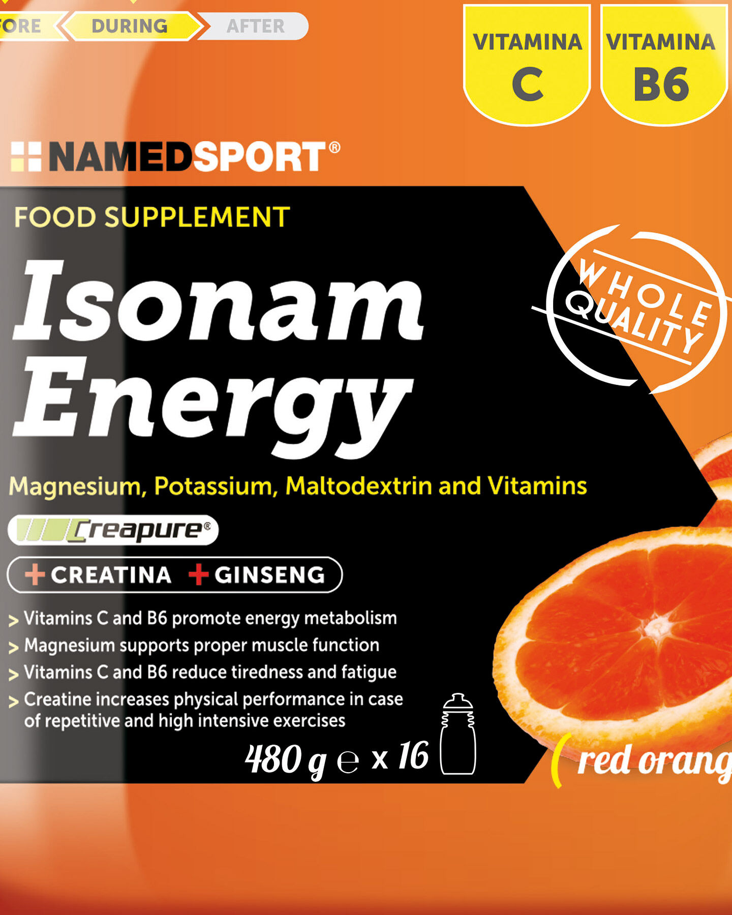 Energetico NAMED SPORT ISONAM ENERGY ORANGE 480 GR S1308862|1|UNI scatto 1