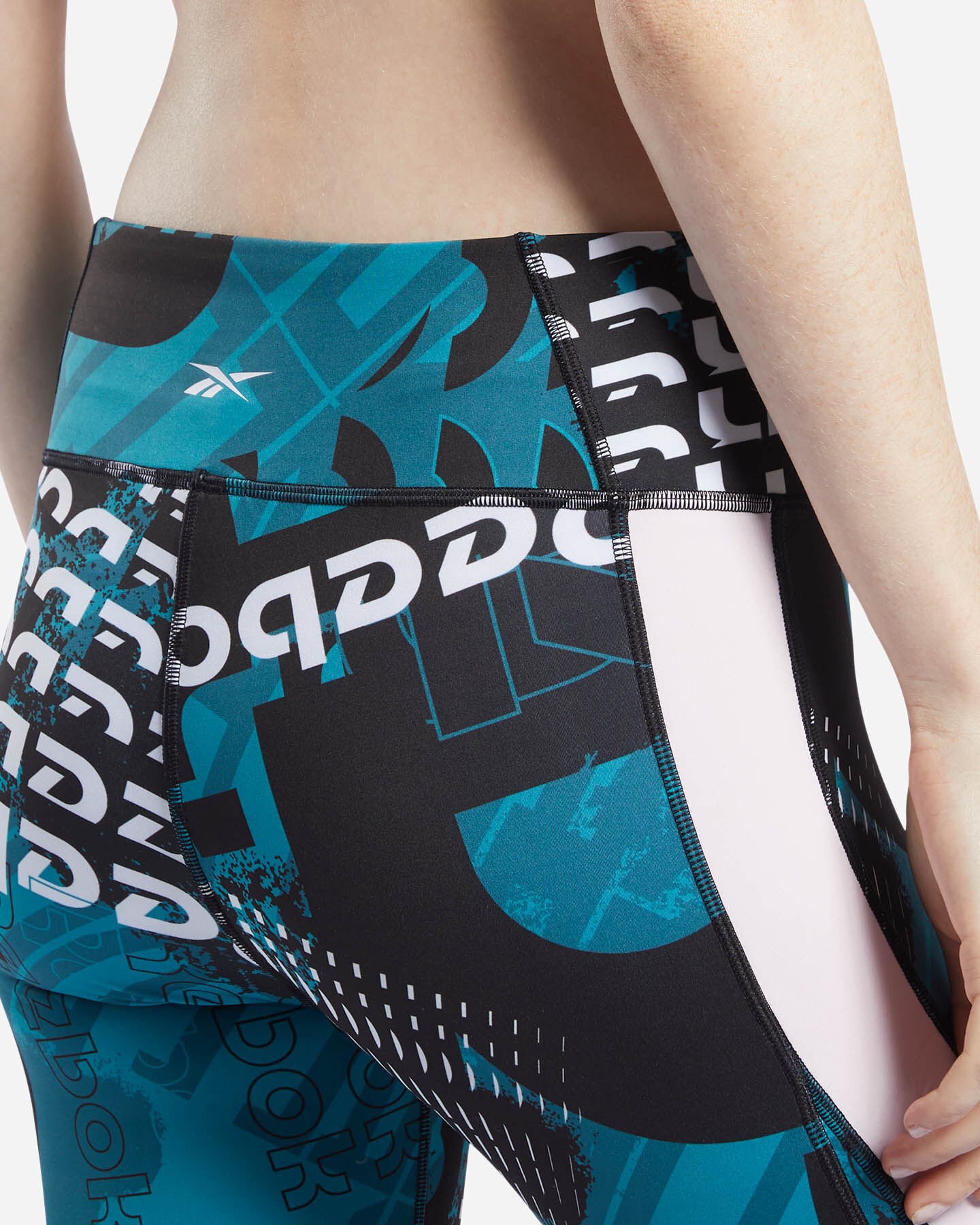 Leggings REEBOK MEET YOU THERE ALLOVER PRINT 7/8 W S5144857 scatto 4