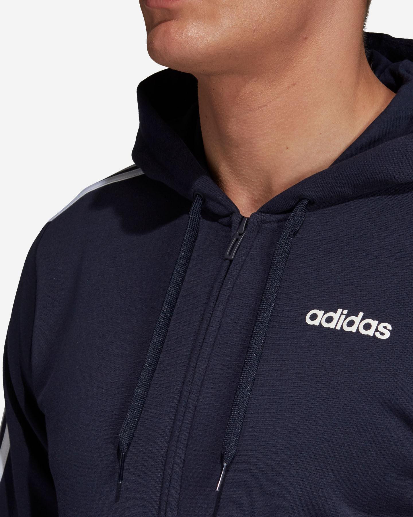 il suo Centro Scettico  Felpa Adidas Essentials 3-stripes M DU0475 | Cisalfa Sport