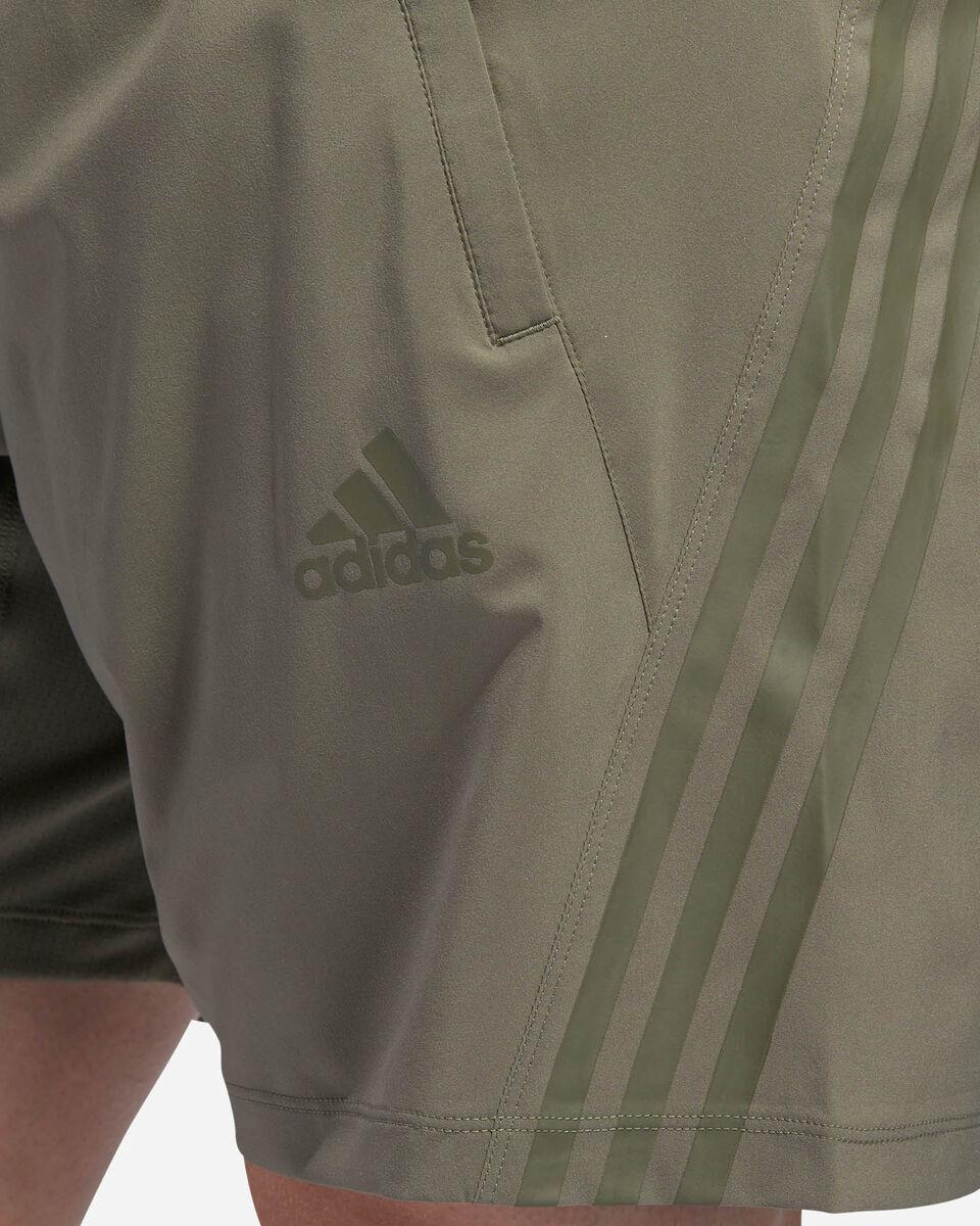 Pantalone training ADIDAS AEROREADY 3-STRIPES 8-INCH M S5154649 scatto 5