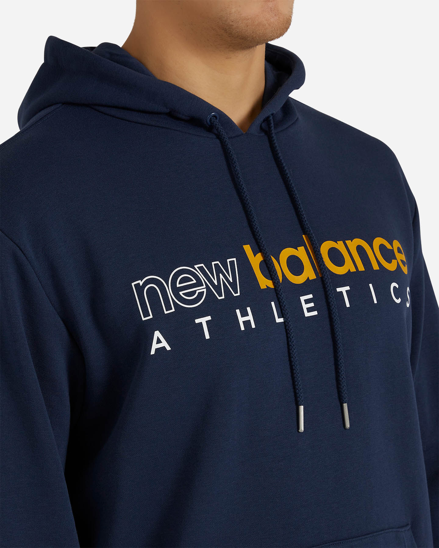 Felpa NEW BALANCE ICON HOODIE M S5166320 scatto 4