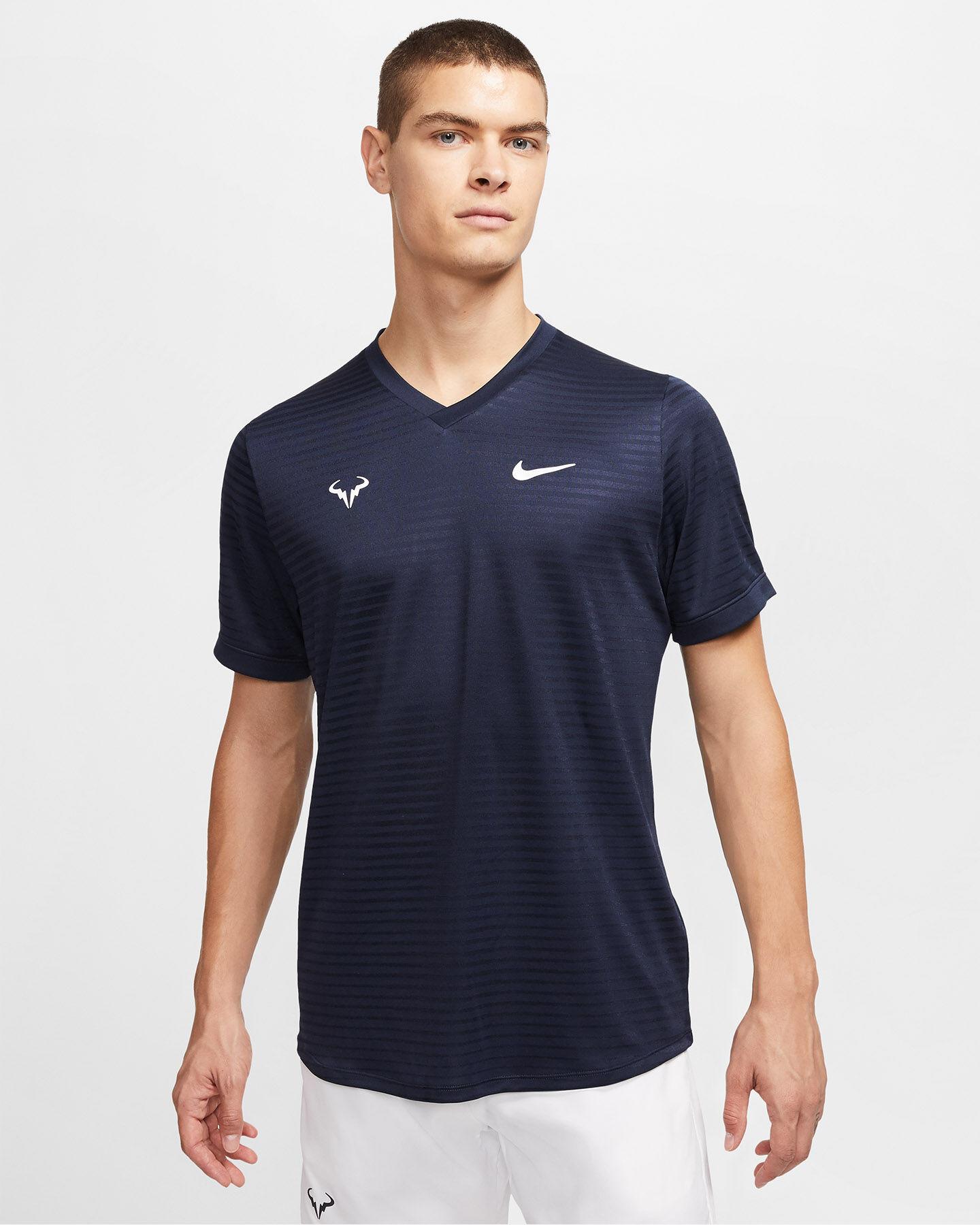 T-Shirt tennis NIKE RAFA CHALLENGER M S5195667 scatto 2