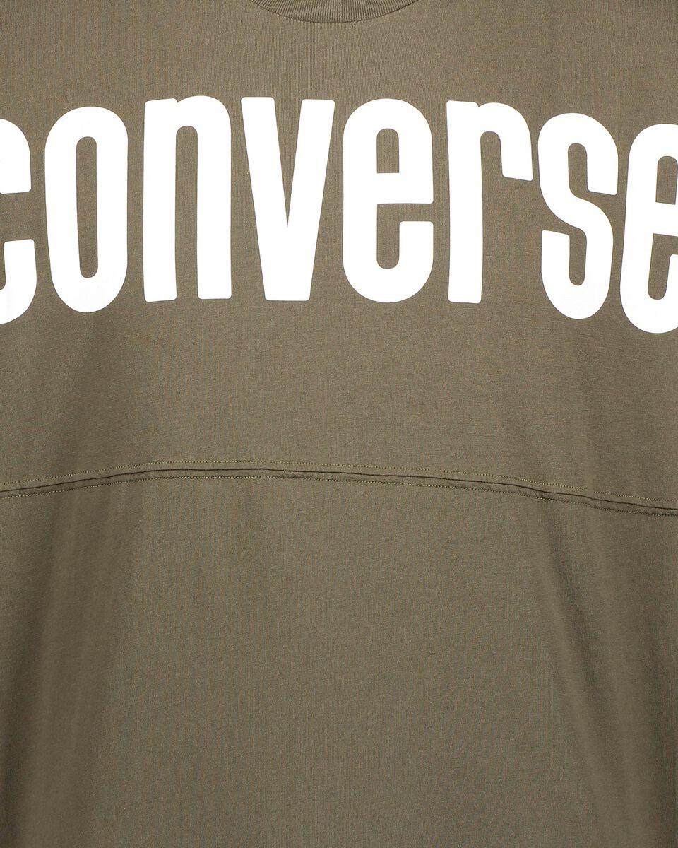 T-Shirt CONVERSE CREW BOLD M S5181020 scatto 2