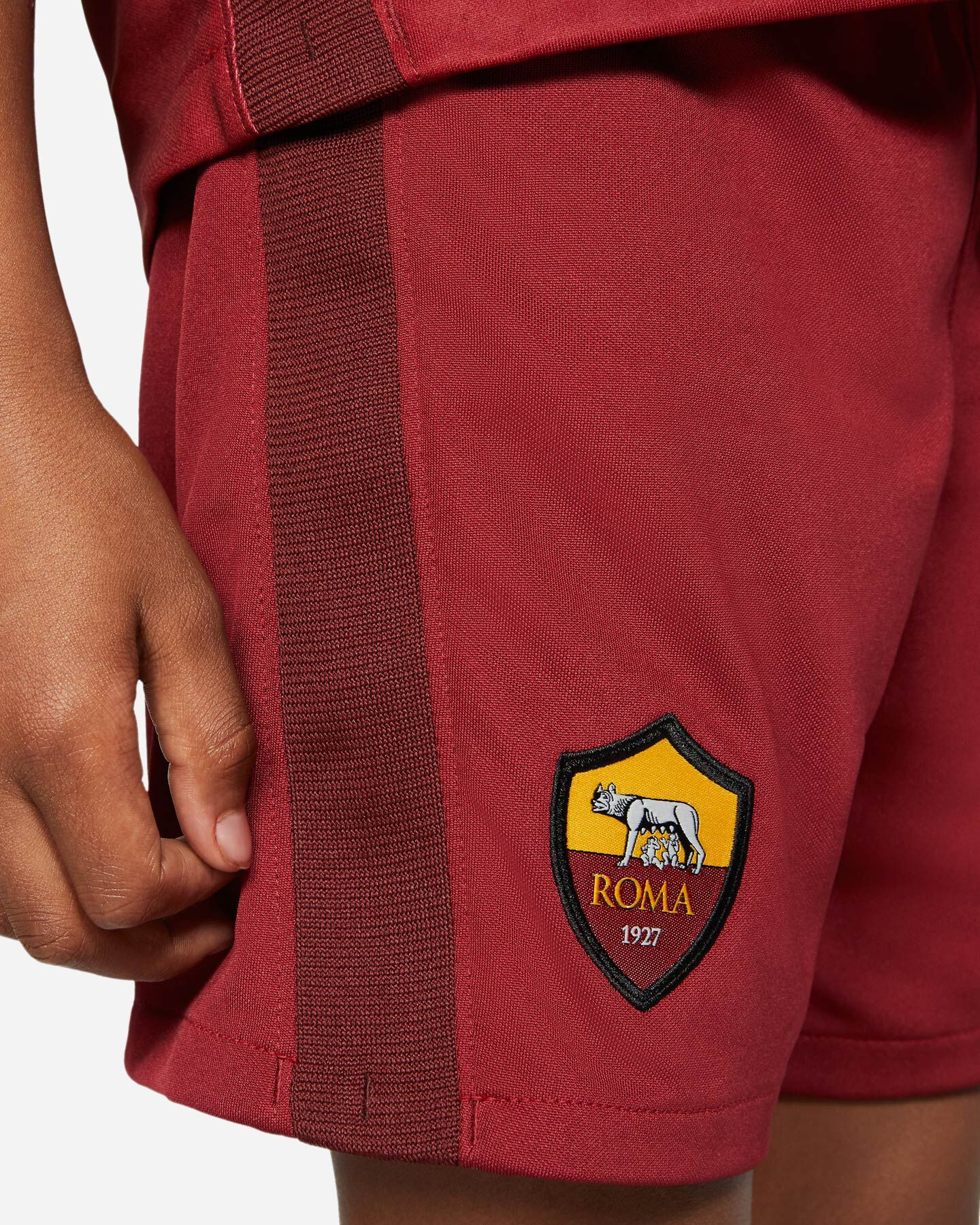 Abbigliamento calcio NIKE AS ROMA HOME 20-21 JR S5195483 scatto 3
