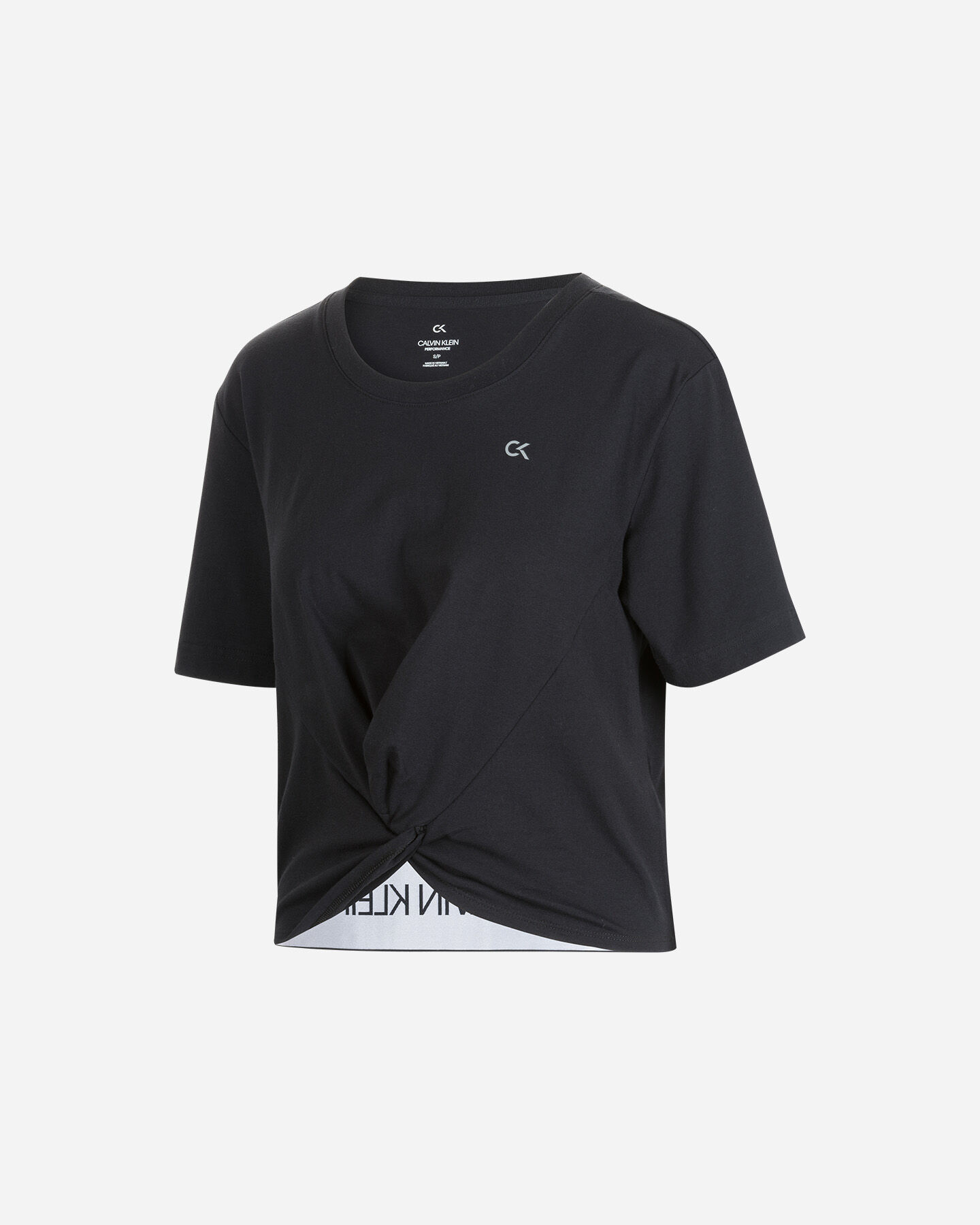 T-Shirt CALVIN KLEIN LOGO RETRO W S4079709 scatto 0