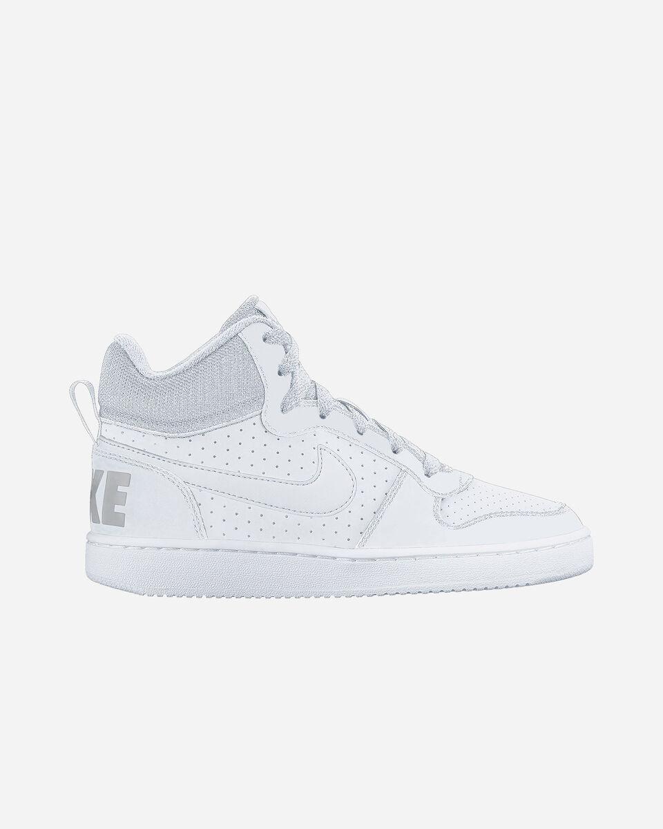 Scarpe sneakers NIKE COURT BOROUGH MID JR GS S1320550 scatto 0