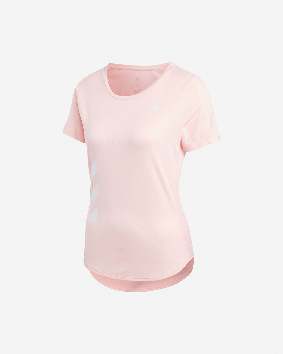 T-Shirt running ADIDAS RUN IT 3 STRIPES W S5210001 scatto 0