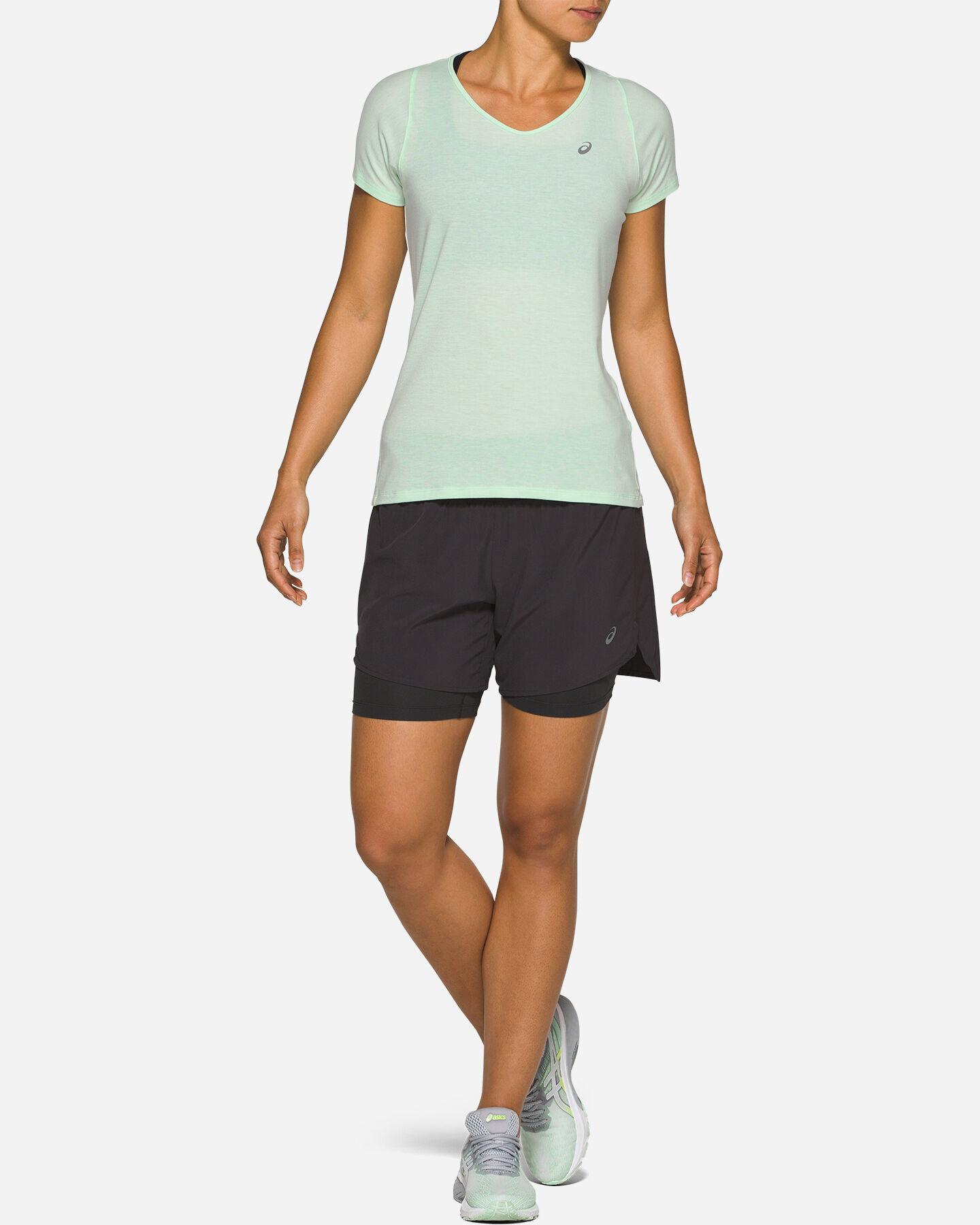 T-Shirt running ASICS V-NECK W S5287949 scatto 3