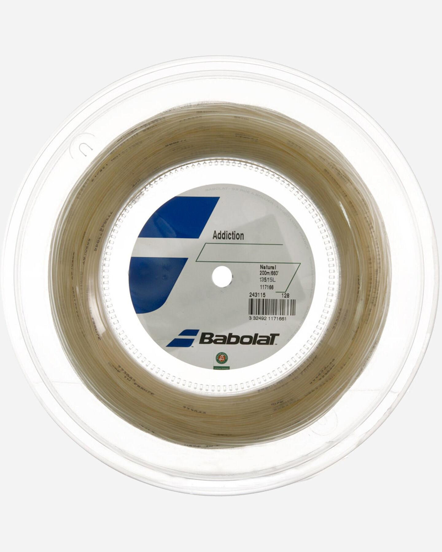 Corde tennis BABOLAT 200 MT ADDICTION NATURAL S1150751 scatto 1