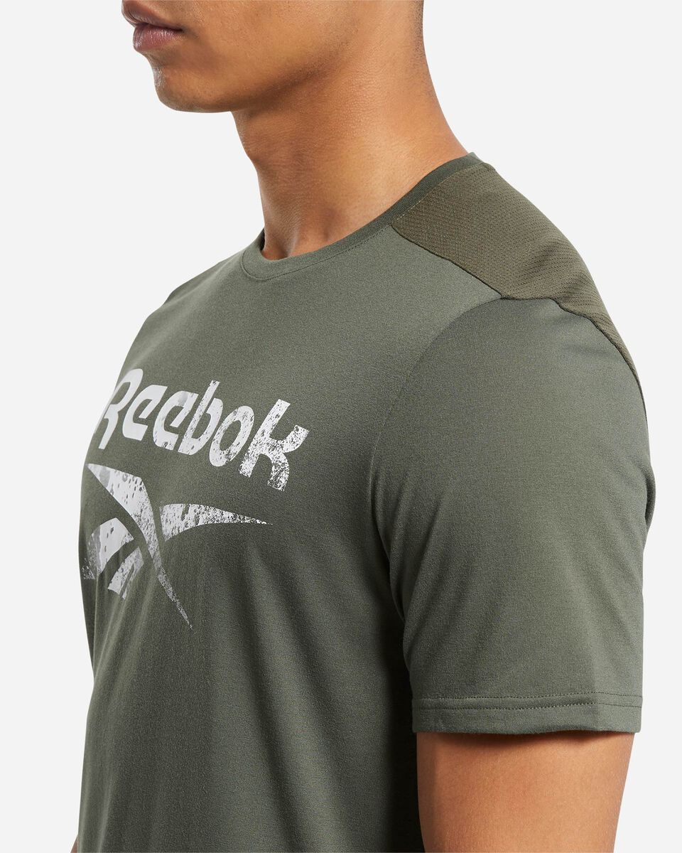 T-Shirt training REEBOK ACTRON LOGO M S5219457 scatto 5