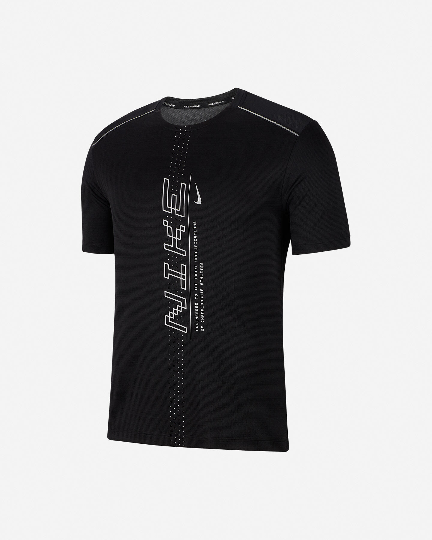 T-Shirt running NIKE DRI-FIT MILER M S5164396 scatto 0
