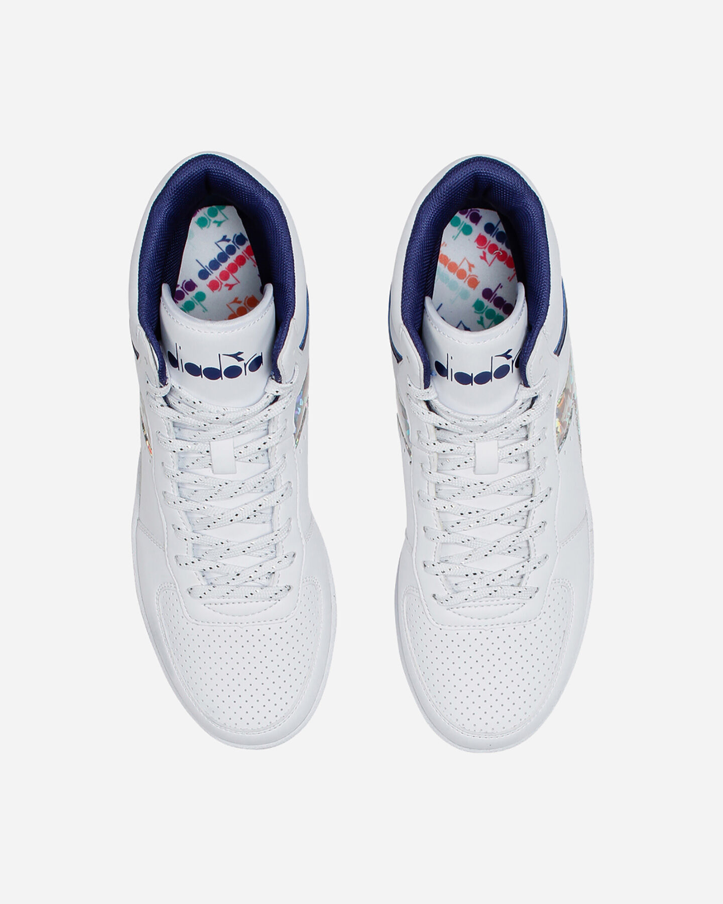 Scarpe sneakers DIADORA PLAYGROUND HIGH JR GS S5089894 scatto 3