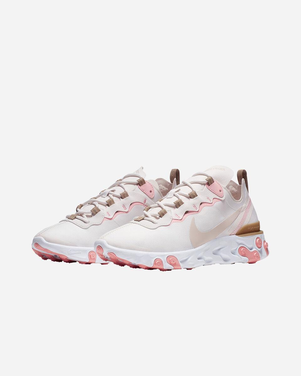Scarpe sneakers NIKE REACT ELEMENT 55 W S5197490 scatto 1