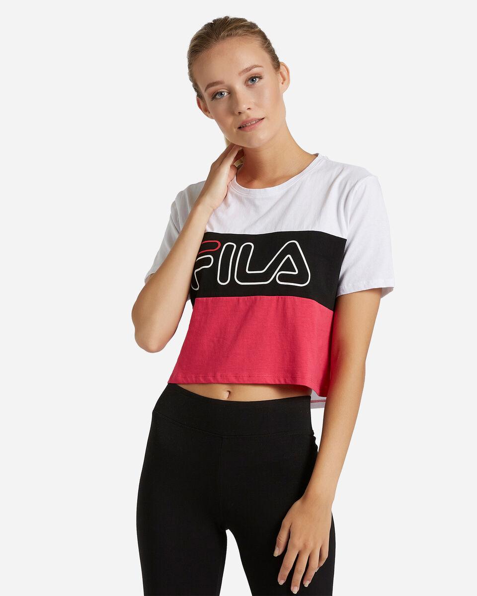 T-Shirt FILA CROP COLOR BLOCK W S4080528 scatto 0