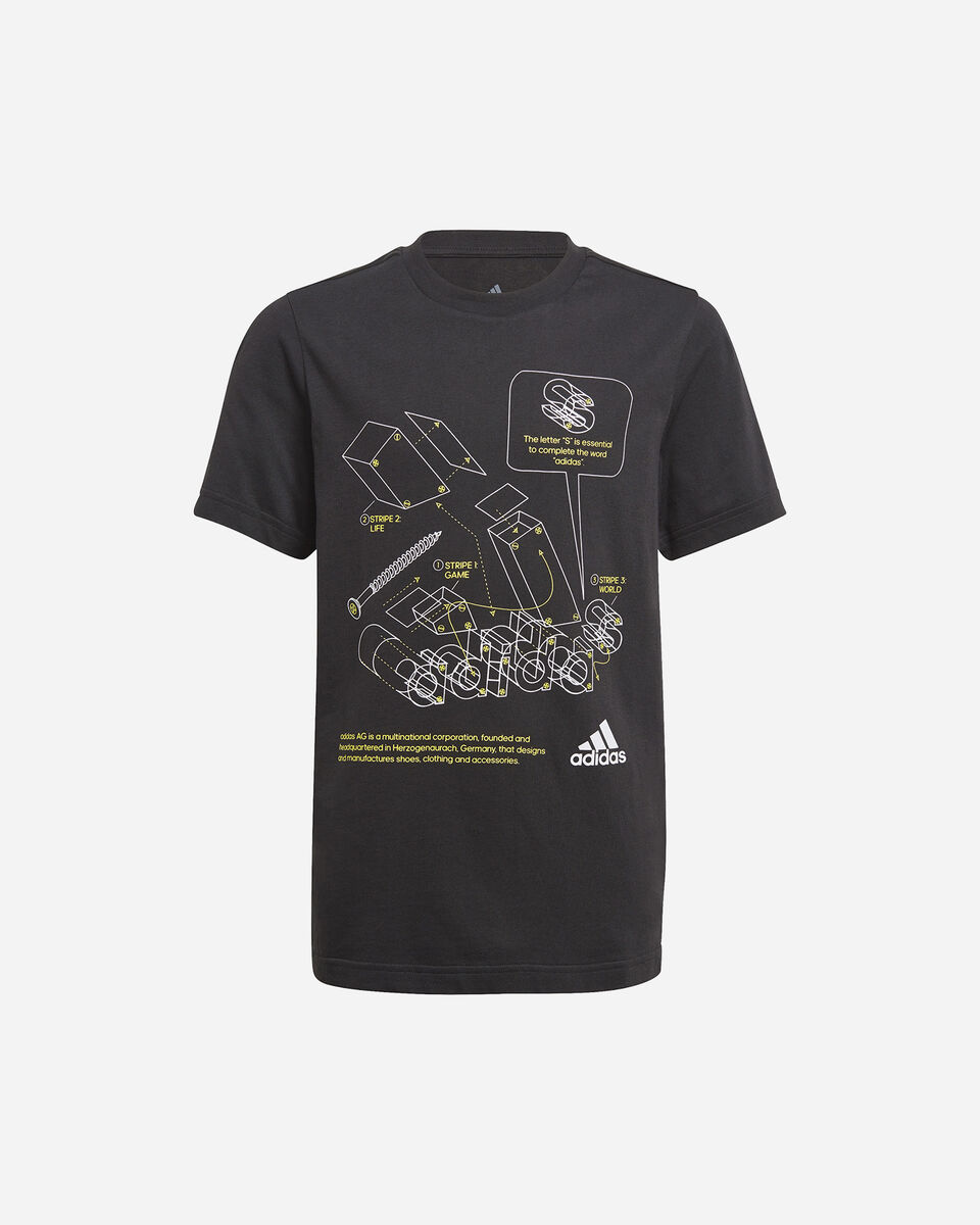 T-Shirt ADIDAS GRAPHIC JR S5273761 scatto 0