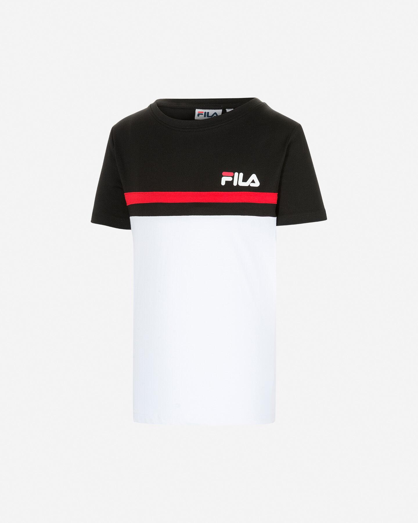 T-Shirt FILA COLOR BLOCK JR S4081461 scatto 0