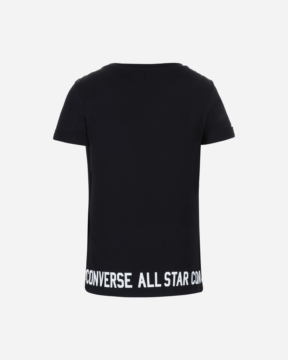 T-Shirt CONVERSE LOGO ROLL UP W S5181170 scatto 1
