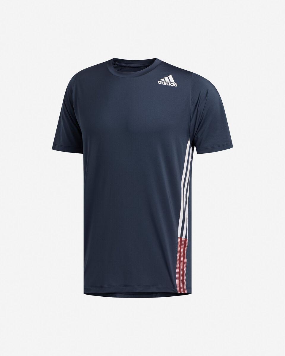 T-Shirt training ADIDAS FREELIFT 3-STRIPES M S5154666 scatto 0
