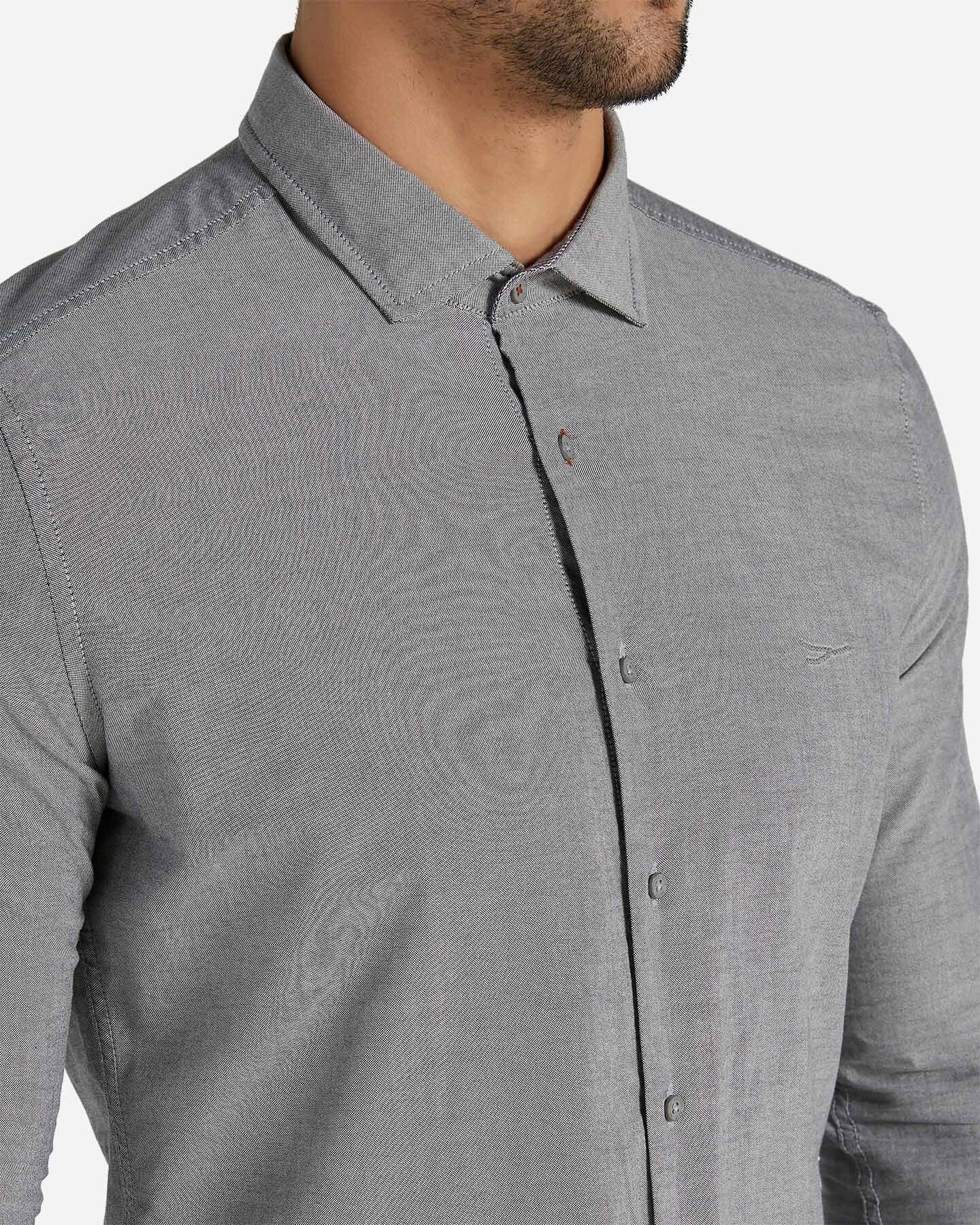 Camicia COTTON BELT SLIM FIT OXFORD M S4071383 scatto 4
