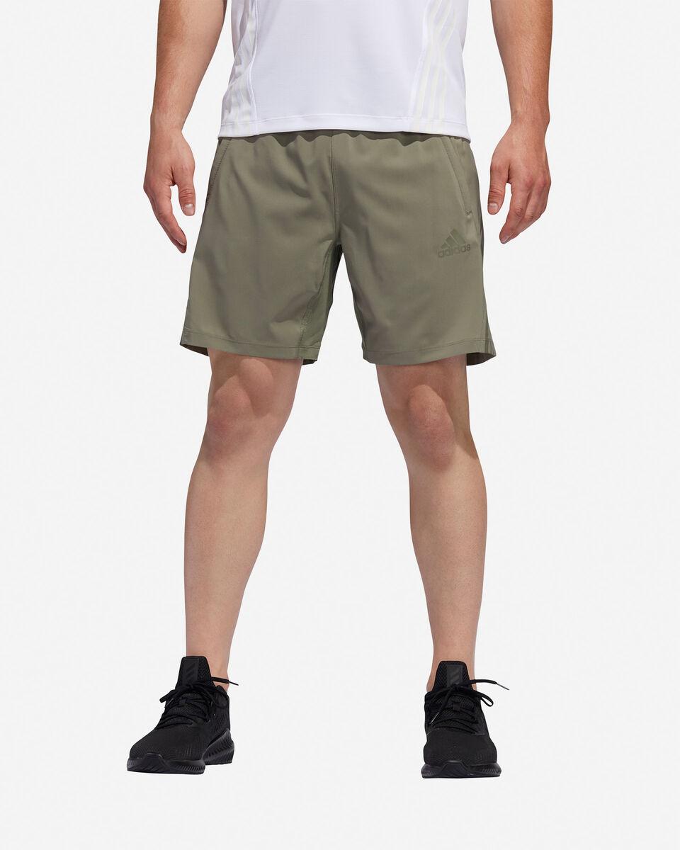 Pantalone training ADIDAS AEROREADY 3-STRIPES 8-INCH M S5154649 scatto 2