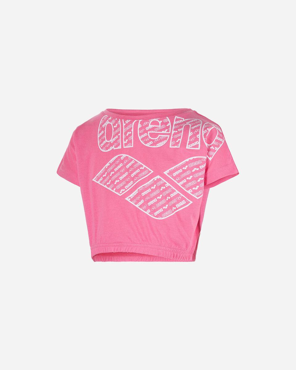 T-Shirt ARENA CROP LOGO JR S4075139 scatto 0