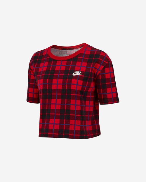 T-Shirt NIKE CROP PLAID W