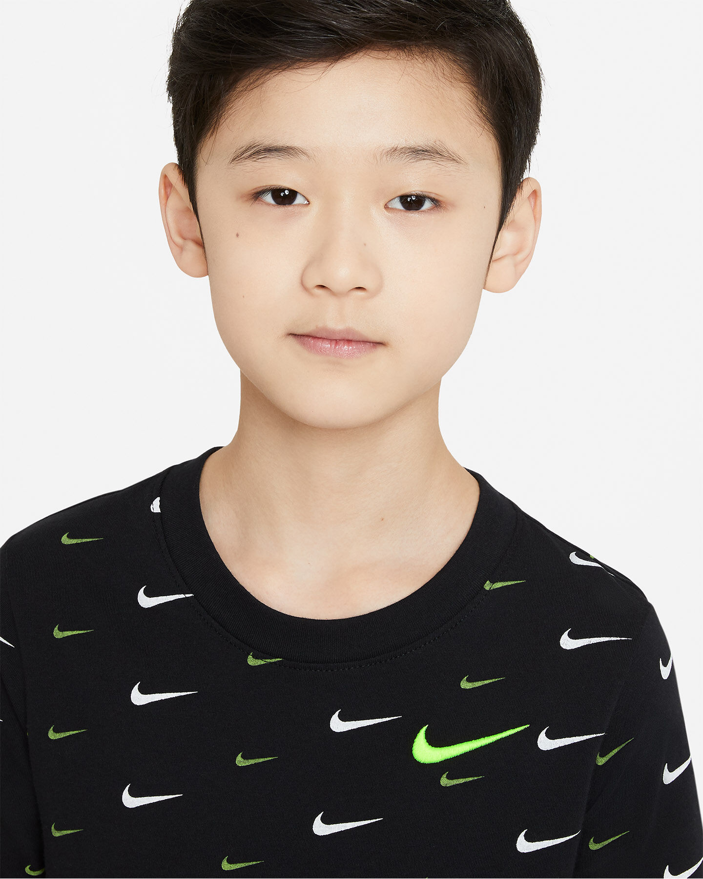 T-Shirt NIKE AOP SWOOSH JR S5270259 scatto 2
