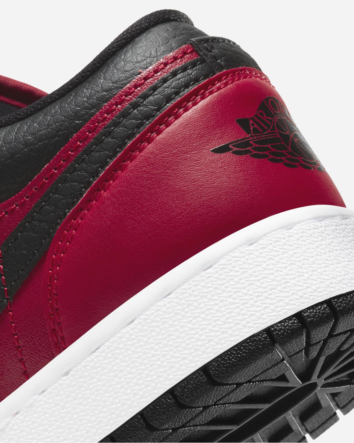 Scarpe sneakers NIKE AIR JORDAN 1 LOW GS JR S5270339 scatto 5
