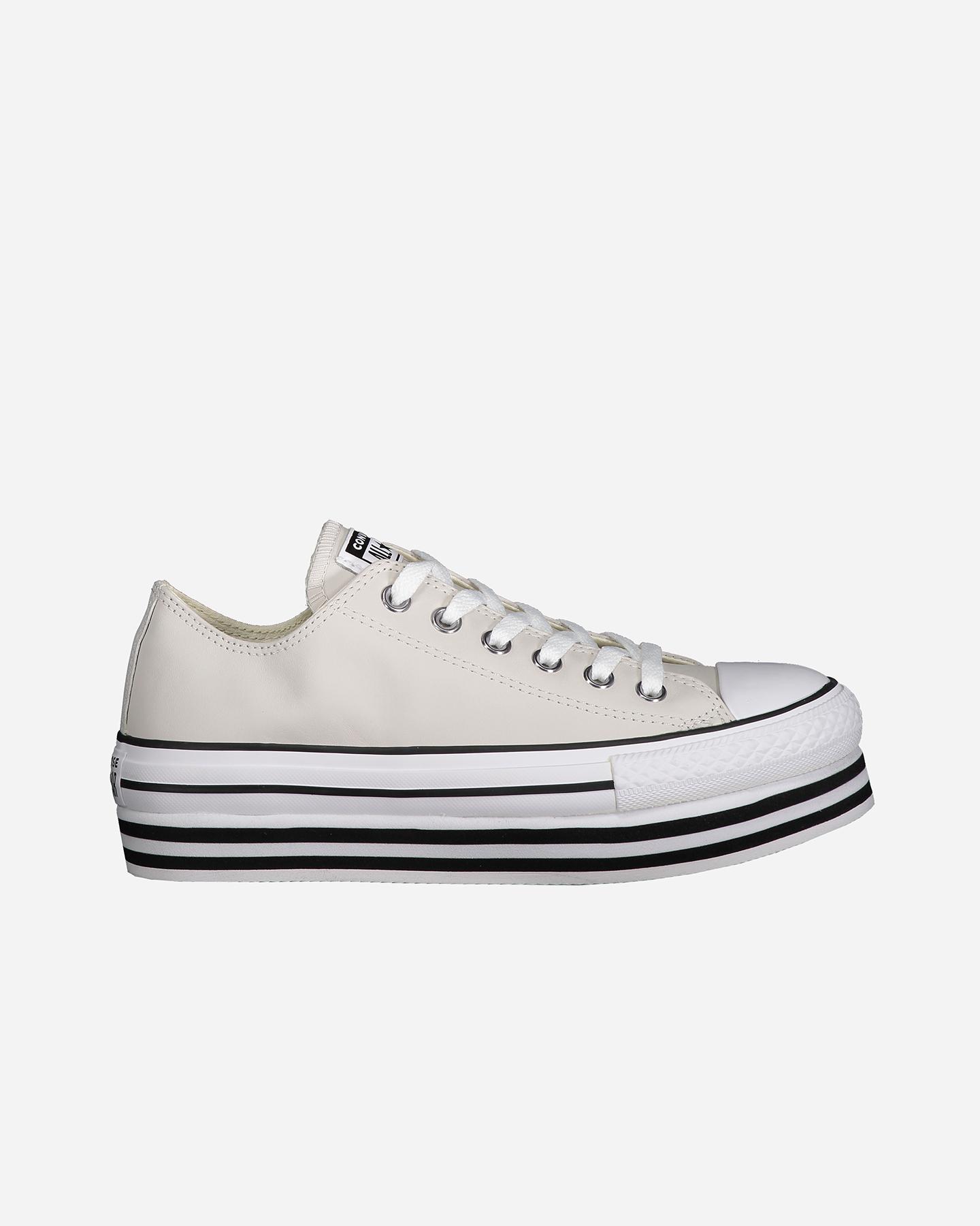 scarpe converse donna platform grigio