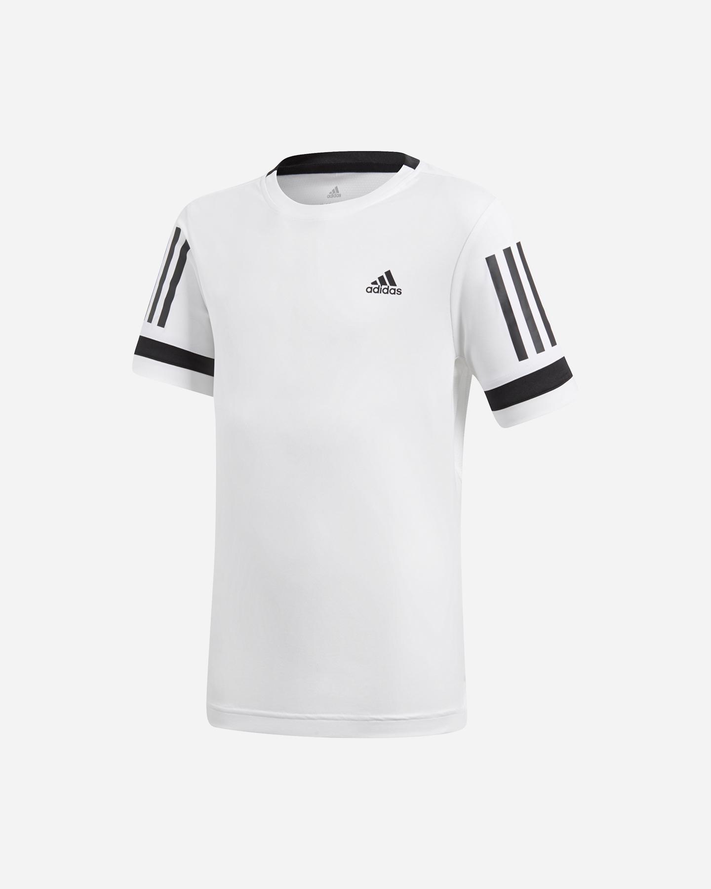 d74a8aaa1e6206 Maglia Tennis Adidas 3-stripes Club Tee Jr CV5894   Cisalfa Sport