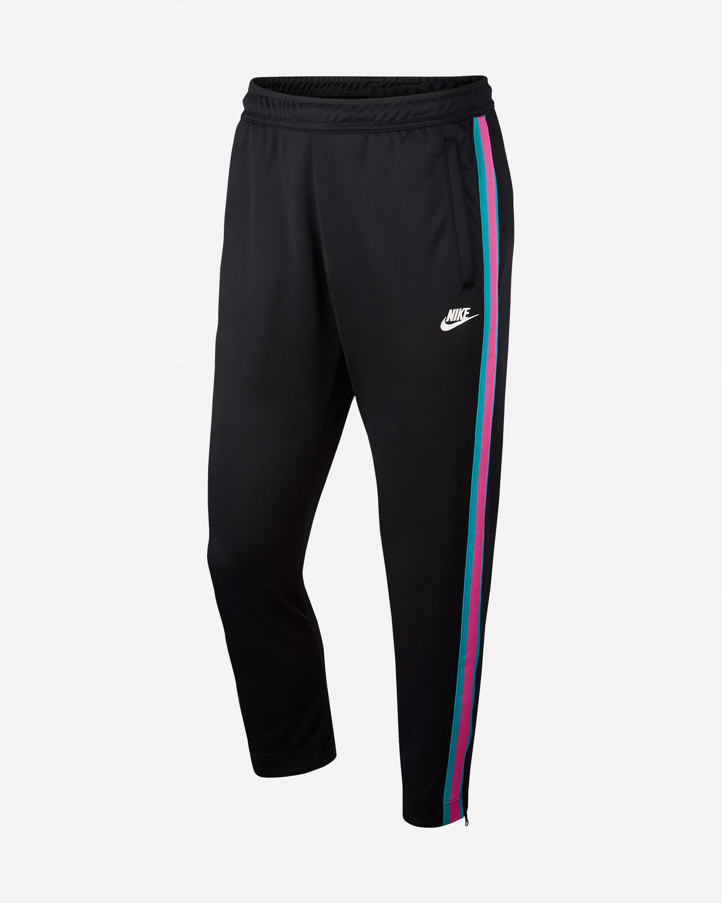 Nike Pantaloni da Donna in Pile con Orlo Aperto, Colore