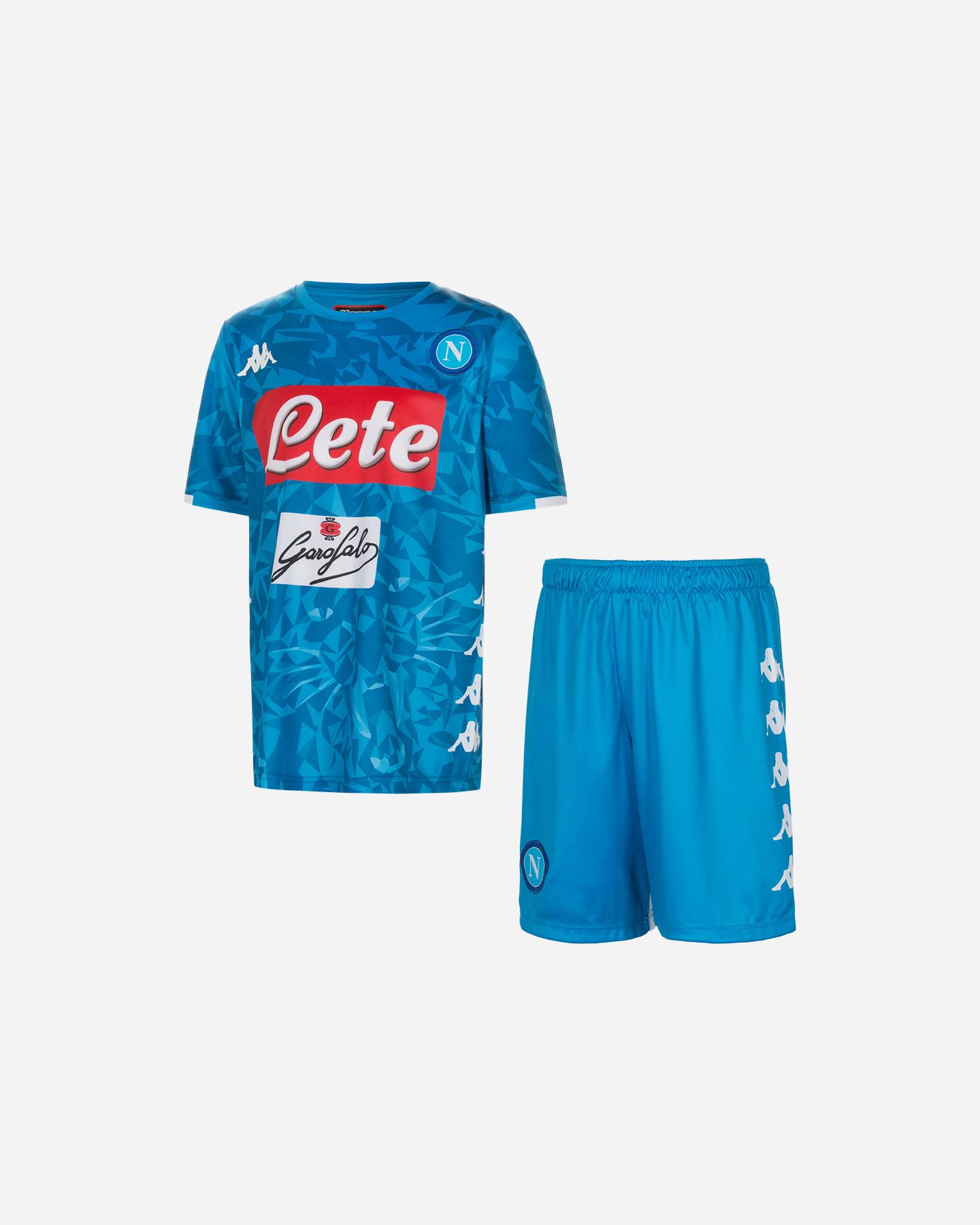 817797d9b Maglia Calcio Kappa Kit Napoli 18-19 Jr 3032UK0-956   Cisalfa Sport