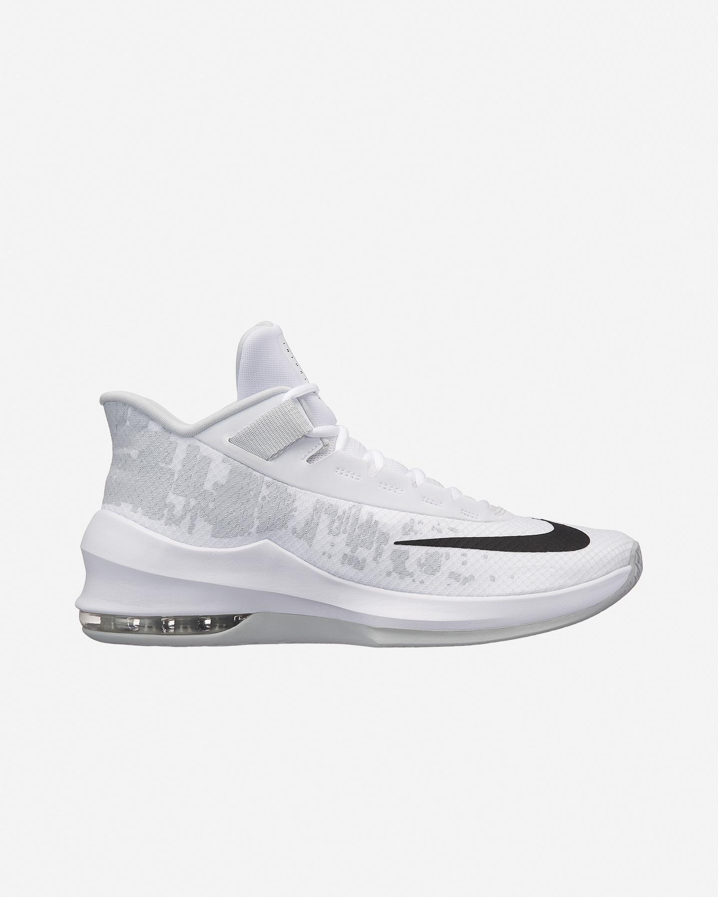scarpe basket nike air max infuriate mid nere