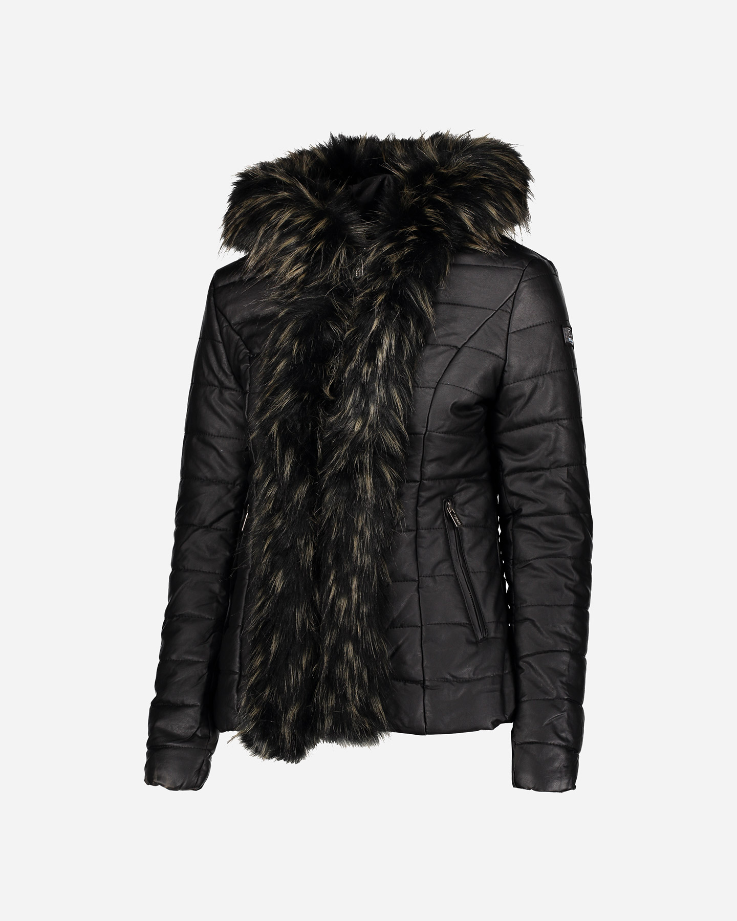 giacca similpelle donna yes zee pellicciotto