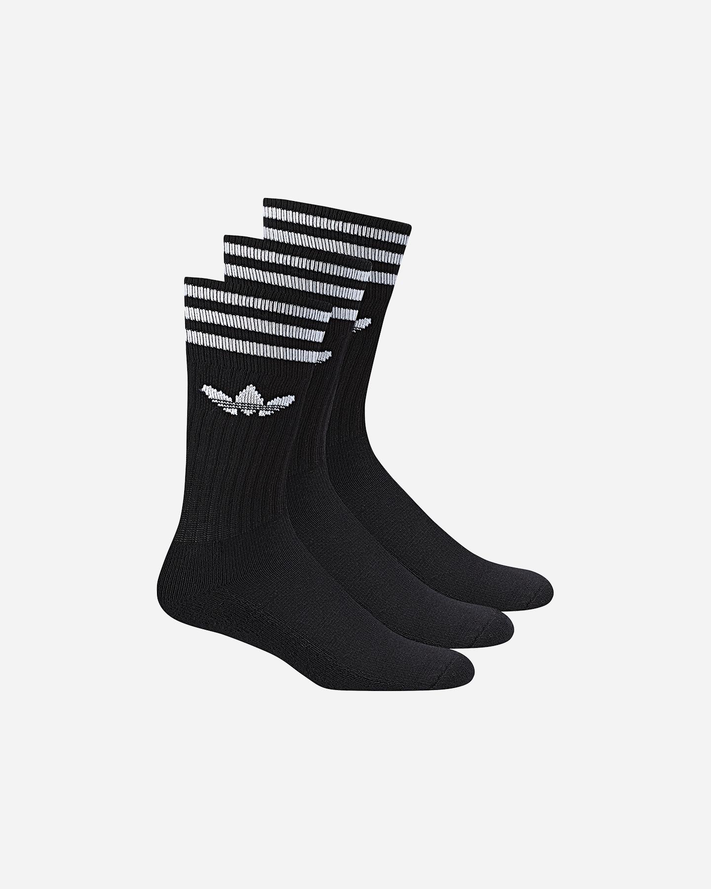 Specificità Fucina su  Calze Adidas Solid Crew Sock 3 Pack M S21490 | Cisalfa Sport